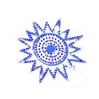 Blue Sun in Lights Grunge Cutout