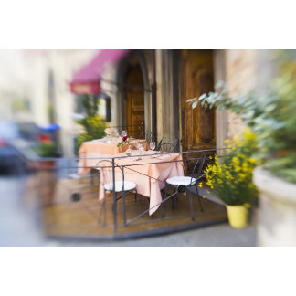 Italy, Lucignano, Selective Focus of Sidewalk