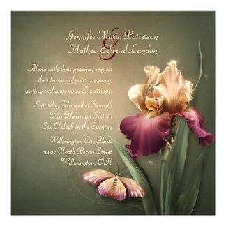 Burgundy and Cream Iris Wedding