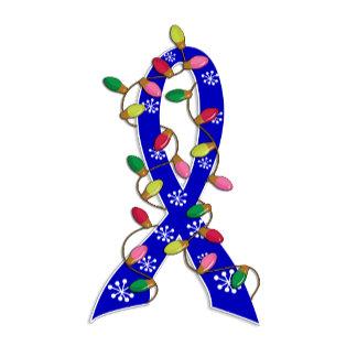 Colon Cancer Christmas Lights Ribbon