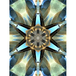 Abstract Earth Tones Emblem