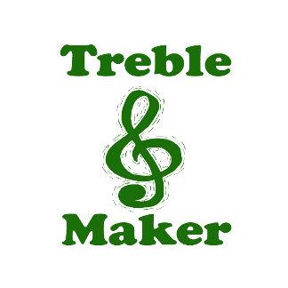 treble maker clef green funny music design