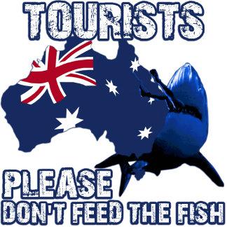 Funny Australian shark T shirts for tourists