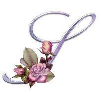Pink Roses Monogram