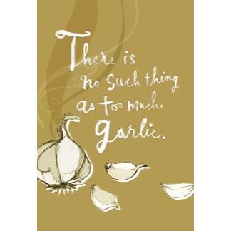 """""""Garlic Poster Print"""""""