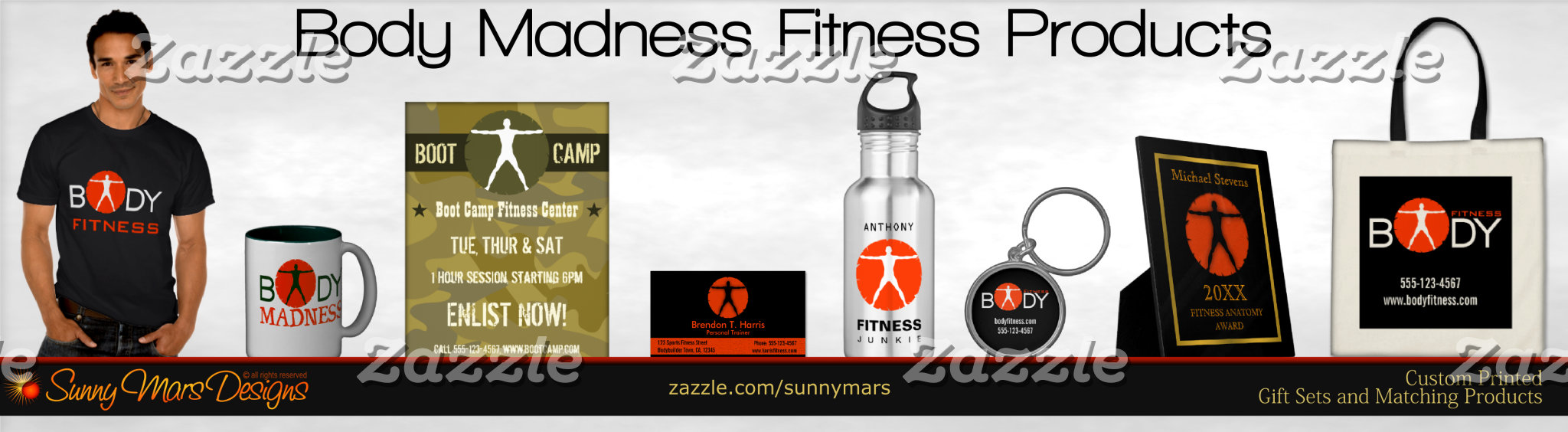 Body Madness Gym Junkie Personal Trainer, Bodybuilding, Fitness Instructor Product Set Collection
