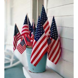 """American flags metal pale poster print"""