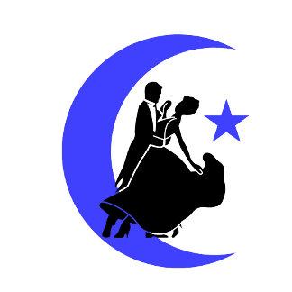 Ballroom moon star 3 blue