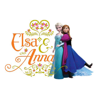 Elsa and Anna Standing Back to Back
