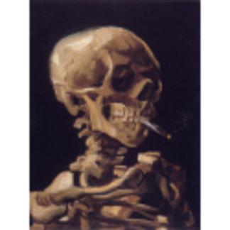 Vincent Van Gogh Skull with a Burning Cigarette