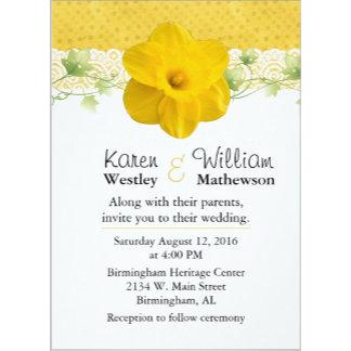 Yellow Daffodil Wedding Set