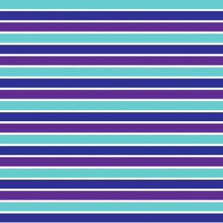 Purple, Blue and Aqua BIG Stripes