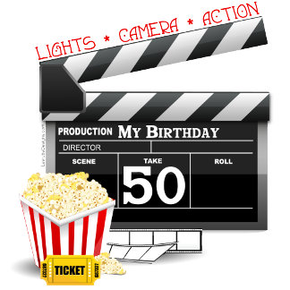 Movie Theme 50th Birthday T-shirts and Gifts