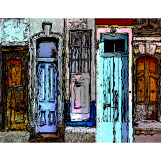 Colorful Doors Collage