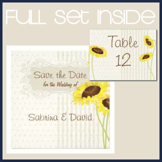 Sunflowers And Stripes Collection