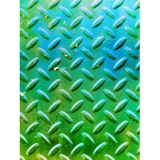 Diamond Plate Steel distressed Grunge green