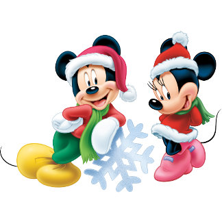 Mickey & Minnie With Snowflake