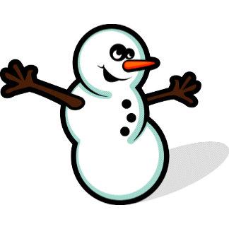 Cute Vector Snowman - Color