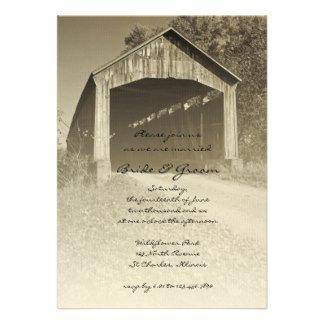 Rustic Covered Bridge Wedding