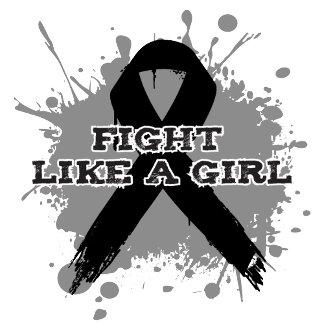 Fight Like A Girl Splatter - Melanoma