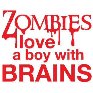 Zombie love a boy or girl with brains