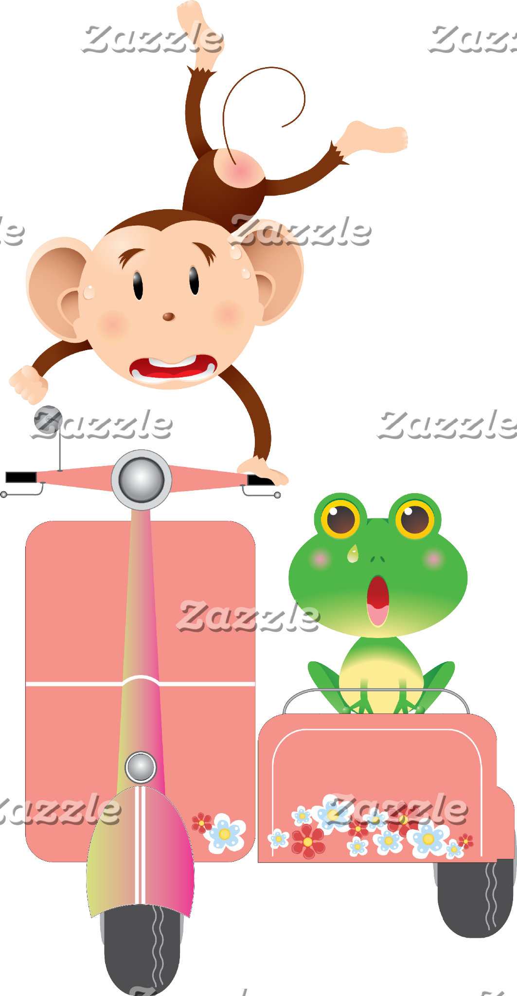 Scooter Monkey and Frog