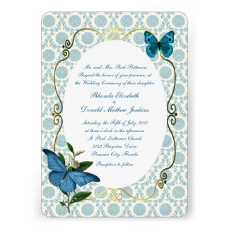 Blue Vintage Butterflies Wedding Products