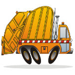 Orange Garbage Truck Poster.png