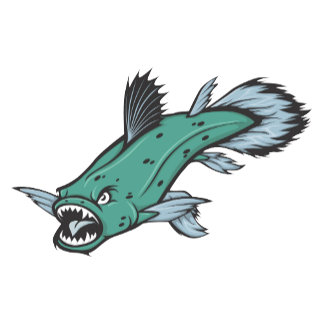 Angry Coelacanth Fish