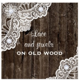 Lace on old wood