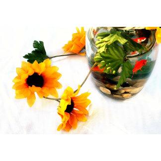 Goldfish Flower centerpiece photograph