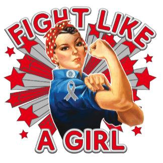 Brain Cancer Vintage Rosie Fight Like A Girl