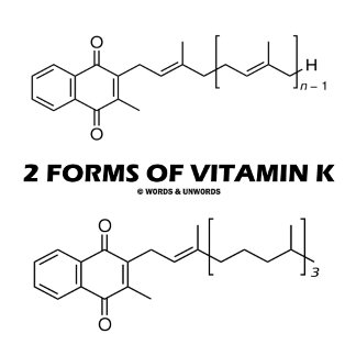 2 Forms Of Vitamin K (Chemical Molecules)