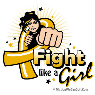 Animated Fight Like A Girl Appendix Cancer