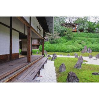 Japan, Kyoto. Stone garden in silence