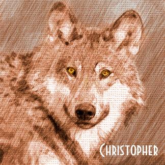 Wolf Pencil Sketch Image