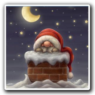 Little Santa in a Chimney