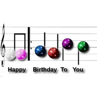 Happy Birthday Disco Ball Music Notes