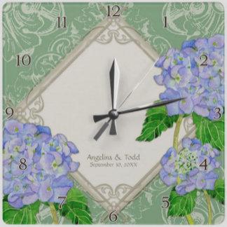 Blue Hydrangea Typography - Mint