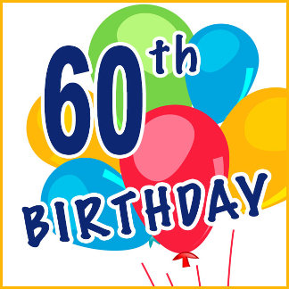 60th Birthday T-shirts, Favors and Gifts