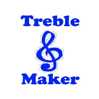 treble maker clef blue music design