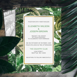 Tropical Terrain botanical Wedding Invites