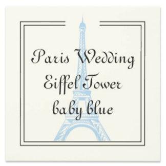 Paris Wedding Eiffel Tower baby blue
