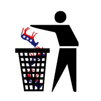 Anti Democrat T shirts and anti democrat badges