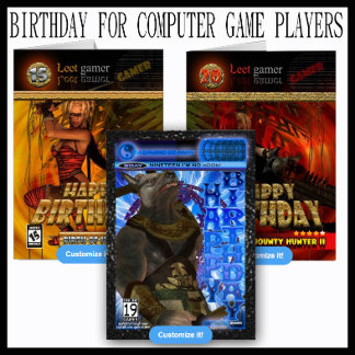 Birthday for computer game players