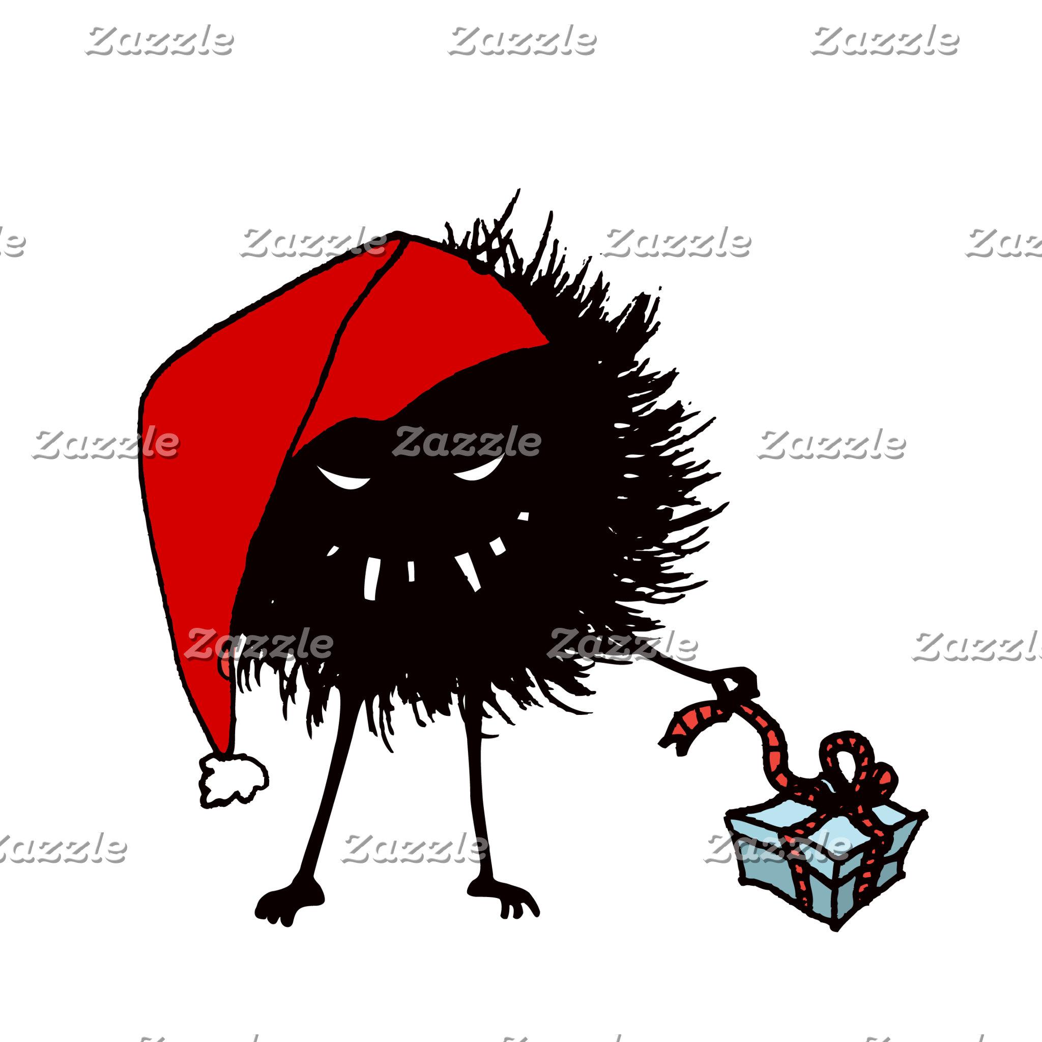 Evil Christmas Bug Opening Present