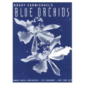 Blue Orchids - Vintage Song Sheet Music Art