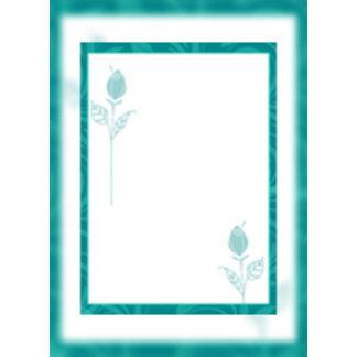 Teal Rose Graphic Wedding