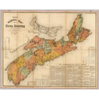 Church's mineral map of Nova Scotia