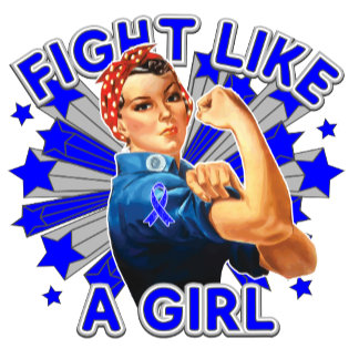 Colon Cancer Vintage Rosie Fight Like A Girl